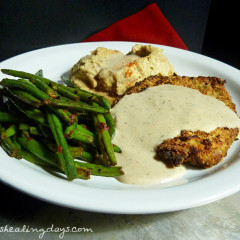 Fast Day Meal Plan | Oven Chicken Fried Steak