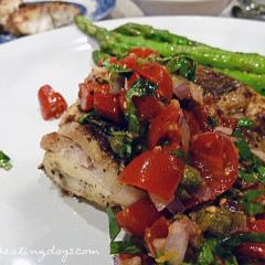 Fast Day Meal Plan | Snapper With Tomato Basil Relish