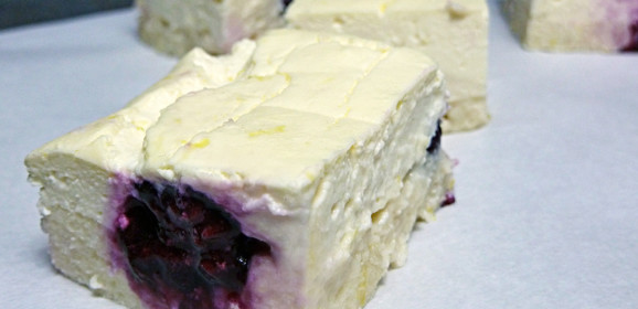 Fast Day Blackberry Cheesecake Bars