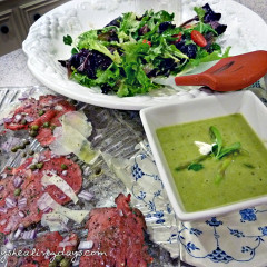 Fast Day Meal Plans | Fast Day Beef Carpaccio