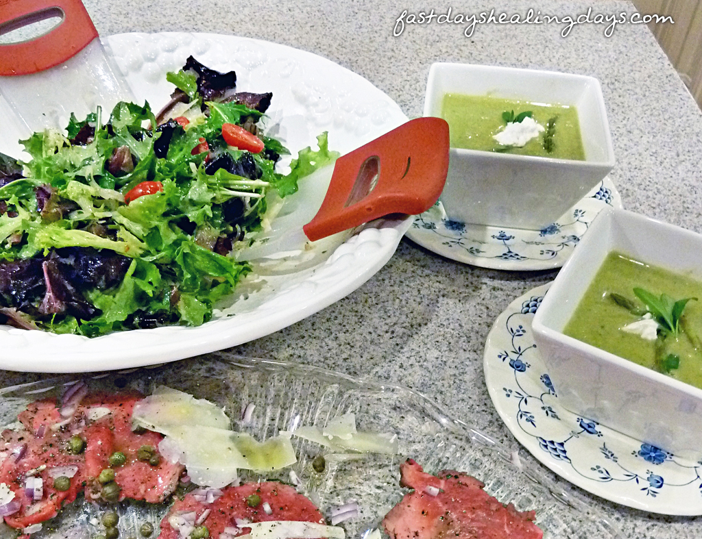 Simple Spring Greens Salad