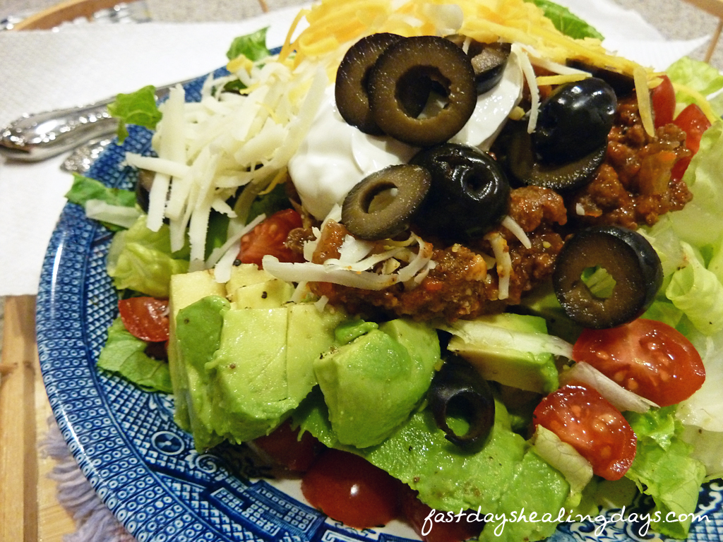 Fast Day Turkey Taco Salad