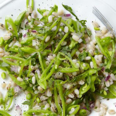 Sugar Snap Pea, Mint & Barley Salad