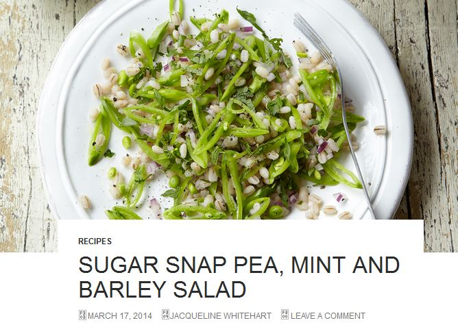 sugar snap pea and endive salad recipes dishmaps wednesday sugar snap ...