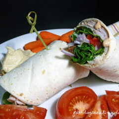 Fast Day Meal Plan | Smoked Gouda Turkey Club Wrap